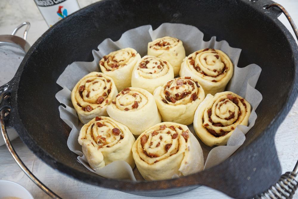 Cinnamon Bacon Rolls Vorbereitung
