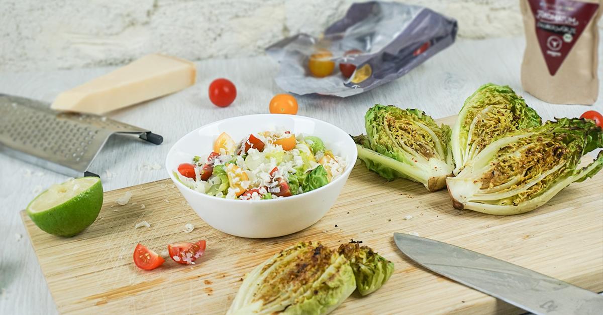 Gegrillter Salat vom Rost