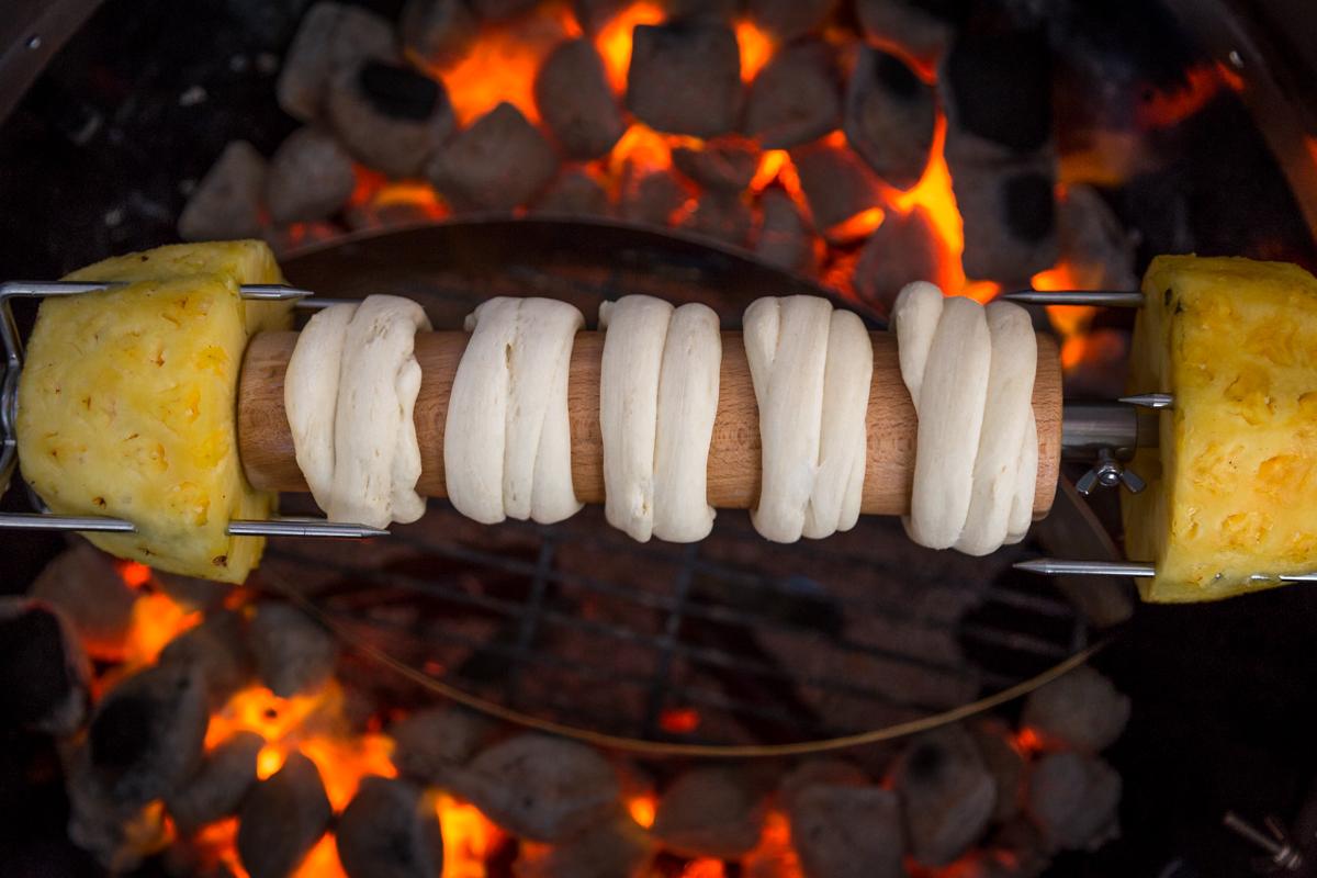 Obstsalat von der Roti Zubereitung