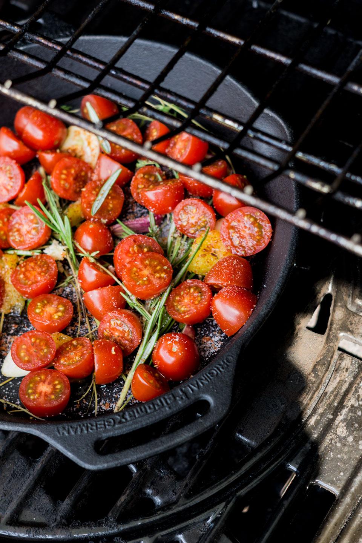 Sommerlicher Grillsalat - Tomaten
