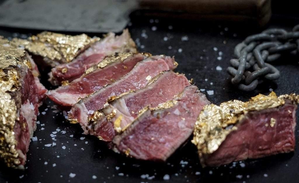 Anschnitt Gold Steak