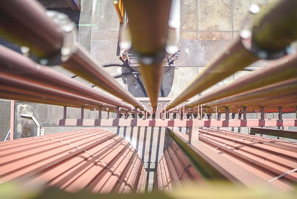 VanDrie Group Rohre von oben